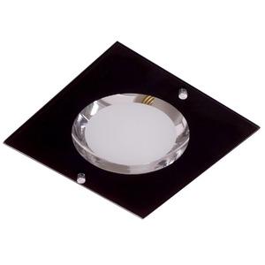 Spot embutir Alumínio/Vidro Preto Semi Fosco JM Iluminação