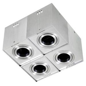 Spot sobrepor Alumínio Prata Escovado Bella Iluminação