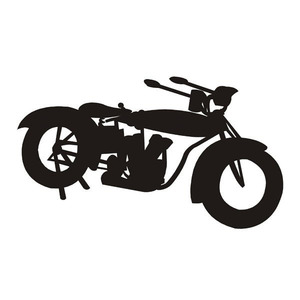 Sticker Decorativo Moto Preto Kapos 40cmX50cm