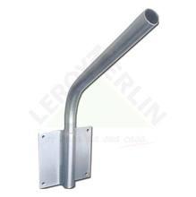 Suporte luminária Alumínio 50cm Cônico Prata Levilux