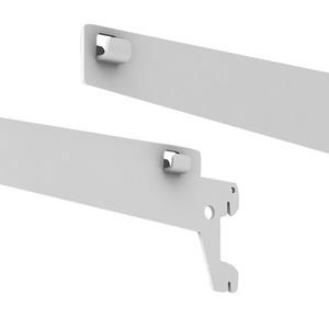Suporte p/ Cesto Aço (Par) Branco 31x14x2cm