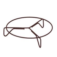 Suporte para Chão Fixo Ferro Redondo Angico 25x25cm Marrom