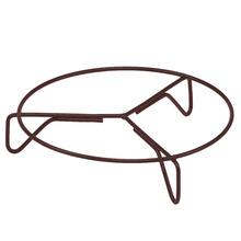 Suporte para Chão Fixo Ferro Redondo Angico 30x30cm Marrom