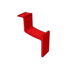Suporte para Corrimões de Alumínio Vermelho 10x2cm Unefix