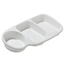 Suporte para Detergente e Esponja  Plástico Branco Plasútil
