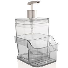 Suporte para Detergente e Esponja Sobre Pia 400 ml Aço e Plástico Natural Martiplast