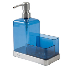 Suporte para Detergente e Esponja Sobre Pia Polietileno Azul Suprema Brinox