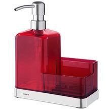 Suporte para Detergente e Esponja Sobre Pia Polietileno Vermelho Suprema Brinox