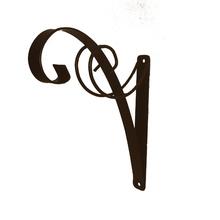 Suporte para Parede Ferro Amarilis 25cm Marrom