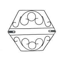 Suporte para Parede Ferro Hexagonal Preto