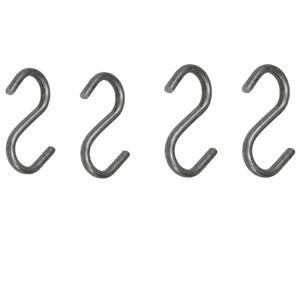 Suporte para Pendurar Aço Galvanizado com 4 Ganchos Grande 9,70x5,60cm Cinza