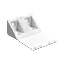 Suporte para Prateleira de Madeira Fixa 20x43mm Branco Plástico 4 unidades