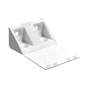 Suporte para Prateleira de Madeira Fixa 20x43mm Branco Plástico 8 unidades