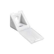 Suporte para Prateleira de Madeira Fixa 22x24mm Branco Plástico 20 unidades