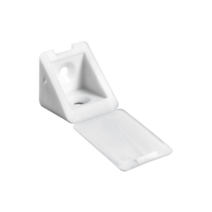 Suporte para Prateleira de Madeira Fixa 22x24mm Branco Plástico 8 unidades