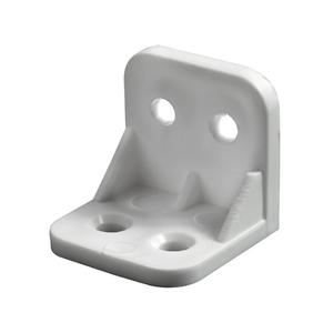 Suporte para Prateleira de Madeira Fixa 30x30mm Branco Plástico 4 unidades