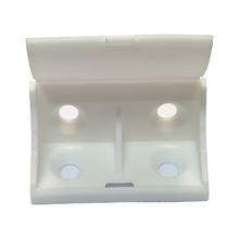 Suporte para Prateleira de Madeira Fixa 31x24mm Branco Plástico 4 unidades