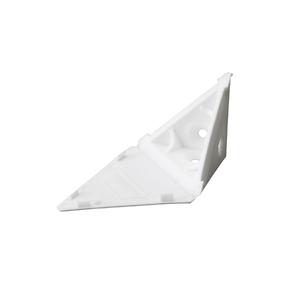 Suporte para Prateleira de Madeira Fixa 38x38mm Branco Plástico 1 unidade