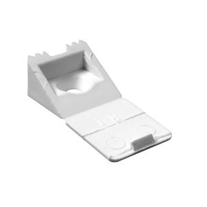 Suporte para Prateleira de Madeira Fixa 8x16mm Branco Plástico 20 unidades