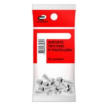Suporte para Prateleira Pino 6x8mm Plástico