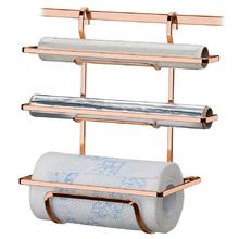 Suporte para Rolos Papel Toalha Alumínio PVC Rose Gold