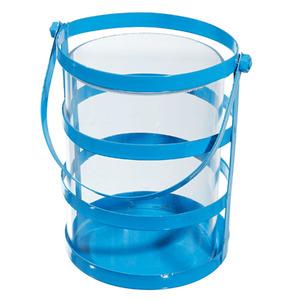 Suporte para Vela Jade Azul 10cm
