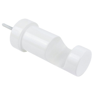 Suporte Parede Moderno Simples Madeira Branco 32mm Santone