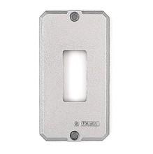 Tampa Alumínio 1 Posto Simples para Caixa Derivação Diâmetro 1/2-3/4 Polegada Comprimento 93 mm Largura 51 mm Espessura 3 mm Tramontina