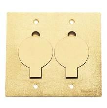Tampa P/Caixa Piso Aluminio Dourado Unha Dupla Tamanho 4X4 Tramontina