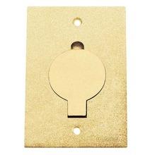 Tampa P/Caixa Piso Aluminio Dourado Unha Simples Tamanho 4X2 Tramontina
