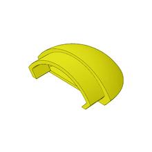 Tampa para Corrimões de Alumínio Amarelo 1x5cm Unefix