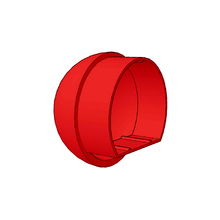 Tampa para Corrimões de Alumínio Vermelho 5x5cm Unefix