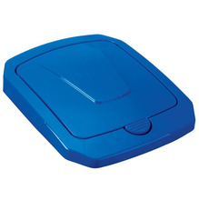 Tampa para Lixeira Seletiva Plástico Azul 40 L Manual Arthi