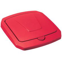 Tampa para Lixeira Seletiva Plástico Vermelha 30 L Manual Arthi