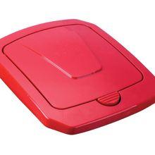 Tampa para Lixeira Seletiva Plástico Vermelha 40 L Manual Arthi