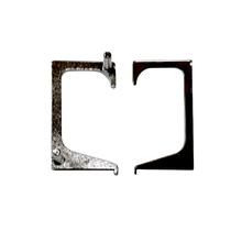 Tampa Puxador Barra para Móveis Zamac Cinza 0,2mm