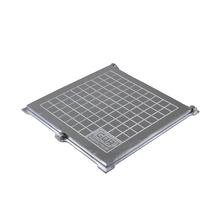 Tampão Alumínio com Porta Cadeado 50x50cm Articulado GDA