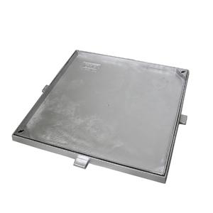 Tampão Alumínio Dupla Vedação Simples Rebaixado 50x50cm Articulado GDA