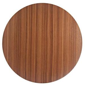 Tampo de Mesa MDF Redondo Teca 90x90cm Home Wood