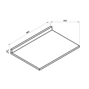 Tampo Reto TR010 100x55cm Branco