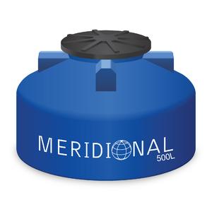 Tanque de Polietileno 500L Azul Meridional