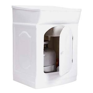 Tanque Simples Fibra de Vidro Branco 85x53x53cm Porta Gas Fiberblu