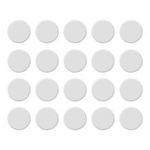 Tapa Furo Encaixe 10cm Branco 20 unidades