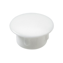 Tapa Parafuso Encaixe 10mm Plástico Branco 20 unidades
