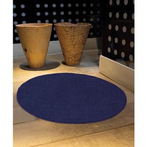 Tapete Angorá Redondo Azul 150cm