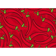 Tapete CleanKasa Pimentas Vermelho 50x70cm