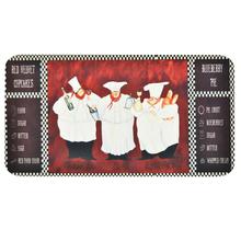 Tapete Cozinha Chef Preto e Vermelho 40x120m