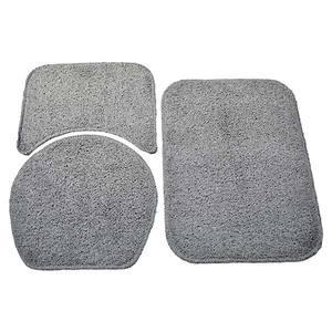Tapete de Algodão Retangular 3 peças Cinza Safira 60x40cm Braz Textil
