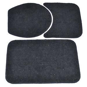 Tapete de Algodão Retangular 3 peças Preto Safira 60x40cm Braz Textil