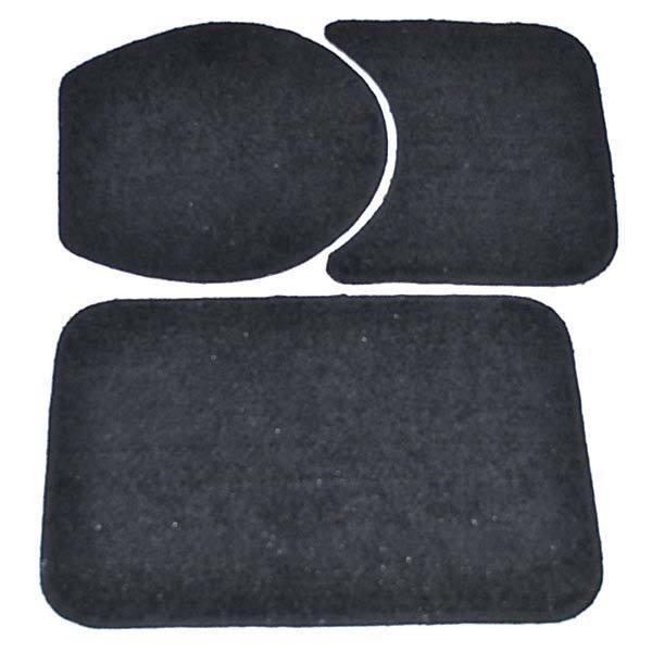 834a7fe396 Jogo Tapete de Banheiro Antiderrapante Safira Preto Tecido 3 Peças Braz  Textil